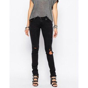 Diesel Skinzee Black Distressed Jeans